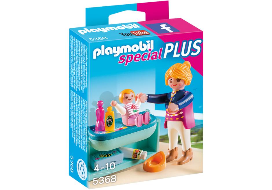 PLAYMOBIL - Mamá y niño con Cambiador (53680): Amazon.es