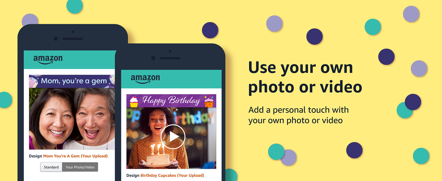 Amazon eGift card - Personalise by adding your photo/video