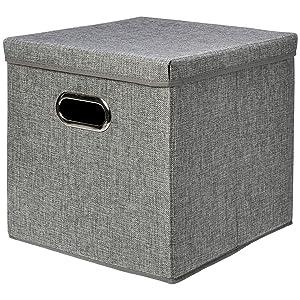 AmazonBasics Foldable Burlap Storage Cube