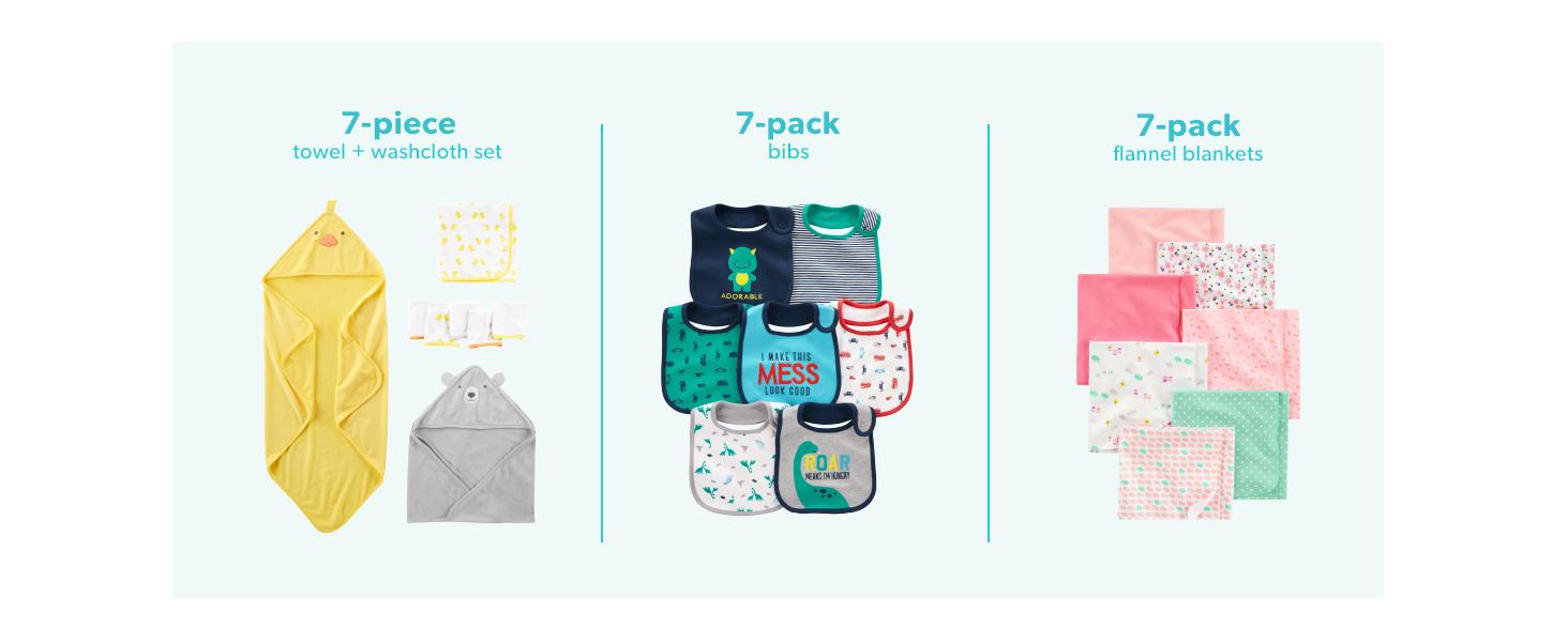 Simple Joys by Carters Baby M/ädchen 2er Pack Baumwolle fu/ßlos Schlafen und Spielen