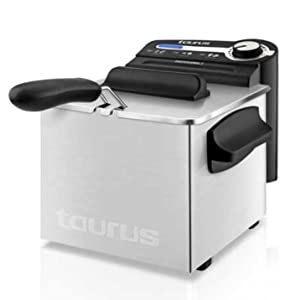 Taurus Professional 2 Plus Freidora, 2 litros, 1700 W, 18/8 Stainless Steel, Acero inoxidable: Amazon.es: Hogar