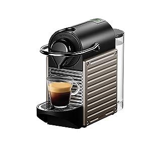 Nespresso Krups Pixie XN3045 Cafetera monodosis de cápsulas Nespresso, 19 bares, apagado automático, color rojo naranja