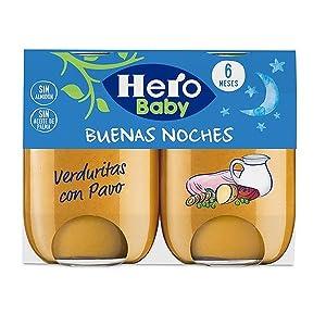 Hero Baby Buenas Noches Noches Verduritas con Pavo - 2 x 190 gr [ Pack de 6] - Total: 2280 gr: Amazon.es: Alimentación y bebidas