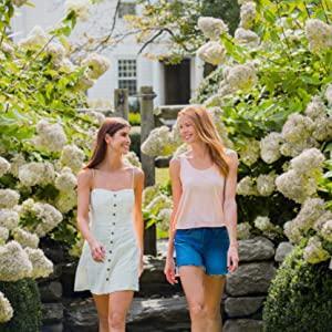 Avalon Organics customers walking in garden