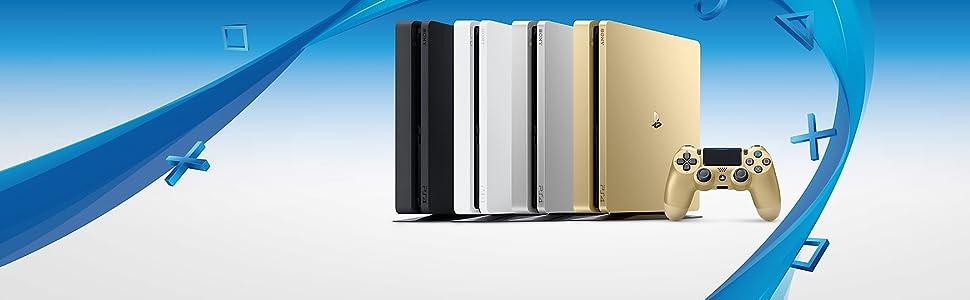 Sony PS4 500GB Slim + 2 DUALSHOCK 4 (Importación Alemana): Amazon ...