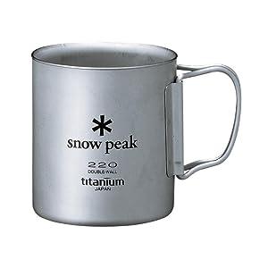 スノーピーク snow peak チタン ダブルマグ 220 容量220ml フォールディングハンドル MG-051FHR