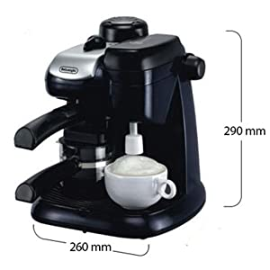 Delonghi Steam Coffee Maker - Black, EC9