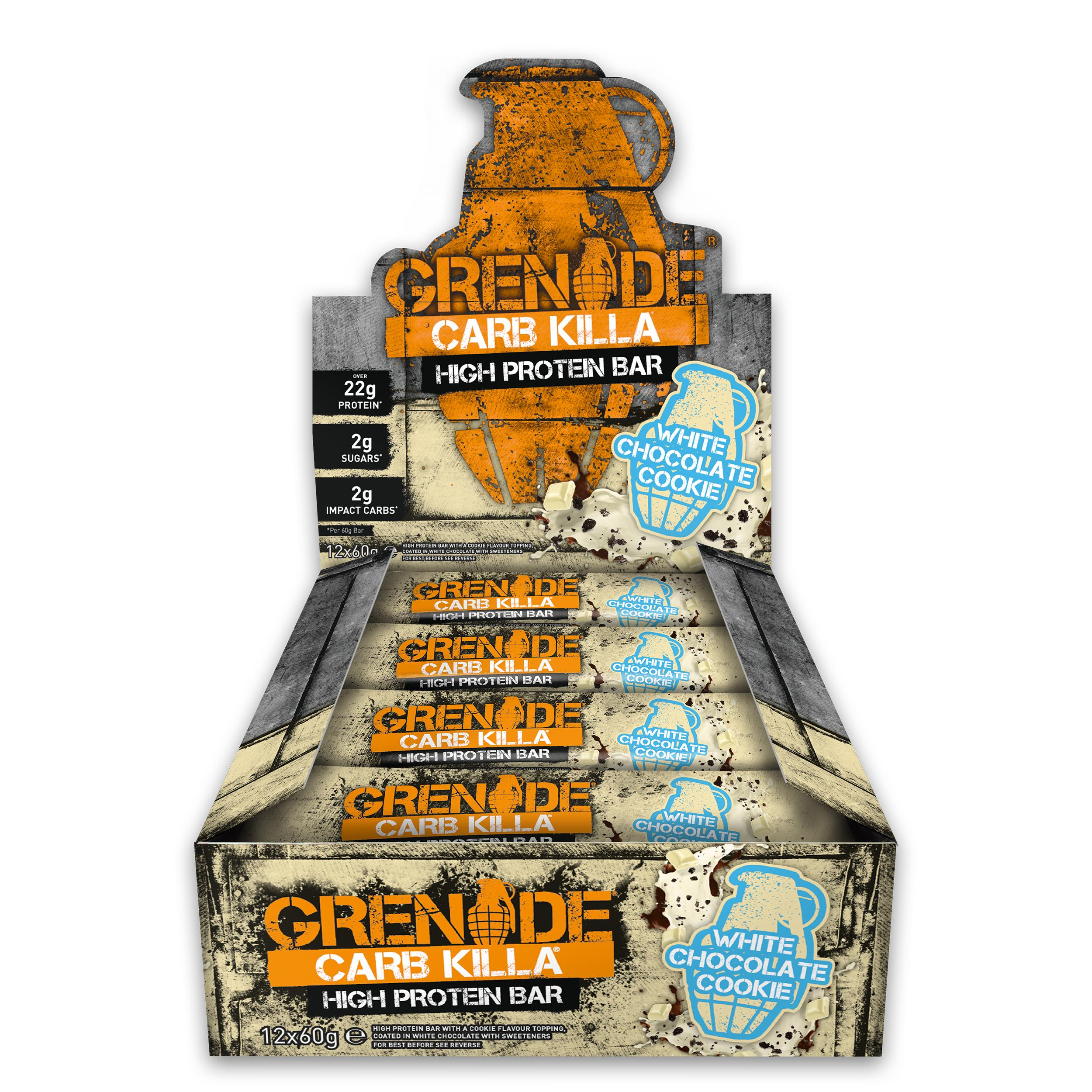 Grenade Carb Killa High Protein and Low Carb Bar, 12 x 60 g ...