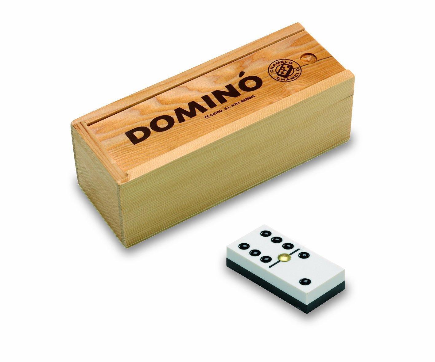 Juguetes Cayro Domino CHAMELO Caja Madera: Amazon.es