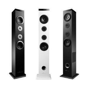 Energy Sistem Tower 5 - Sistema de Sonido Bluetooth (60 W, Touch Panel, USB/SD y FM) Color Blanco
