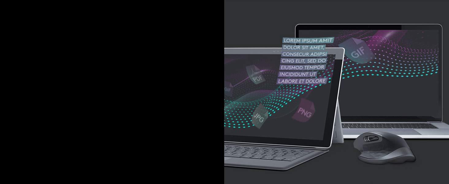 Logitech MX Master 2S Wireless Mouse – Use on Any Surface, Hyper-fast Scrolling, Ergonomic Shape,