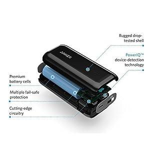 Anker 5200mAh Astro E1 Ultra Compact Portable Charger - Black, A1211012