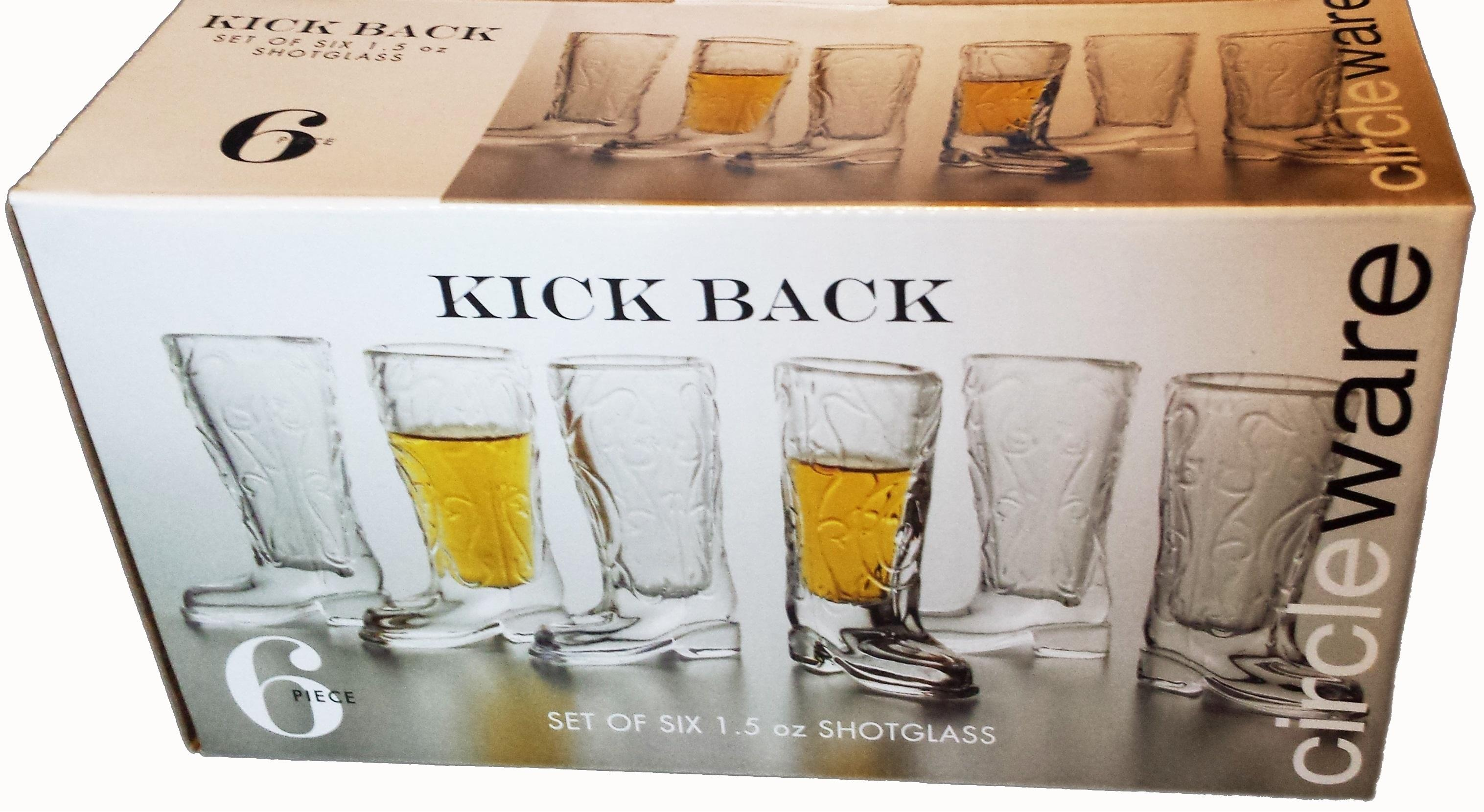 Amazon Com Circleware Kickback Cowboy Boot Shot Glasses