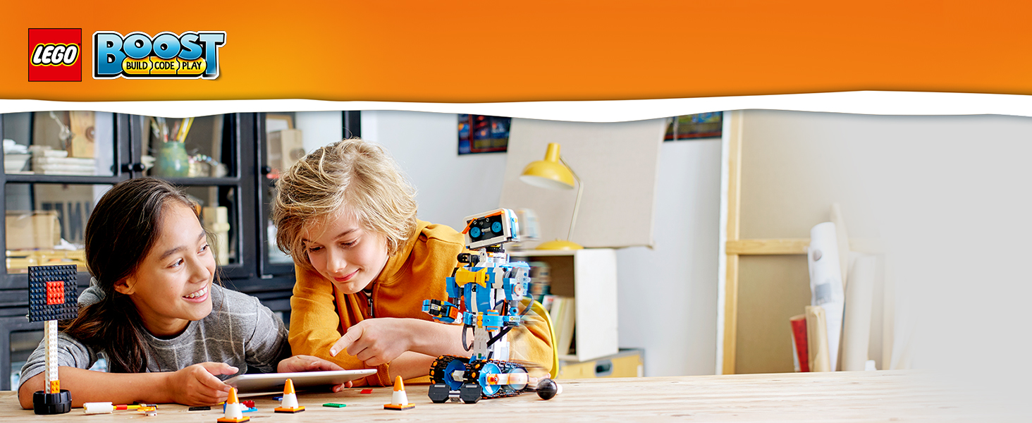 LEGO 17101 Boost Creative Toolbox Robot Building Kit, 5 in 1 Model, Build Code and Play Toy