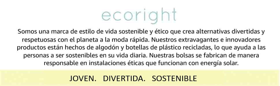 EcoRight Bolsones de lona para mujer