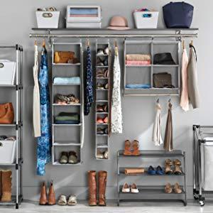 organisation, storage, closet, laundry, shoes, garment, amazonbasics, seville, songmics, home décor