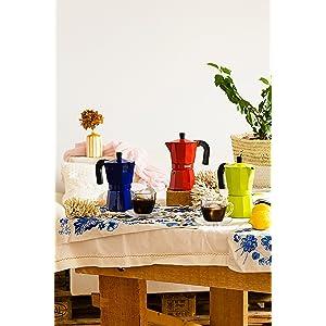 Monix M281703 M281703-Cafetera Italiana, 3 Tazas, Color Fresa ...