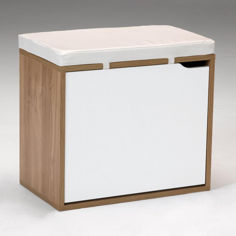 Kit Closet Banco Zapatero Cerezo y Blanco
