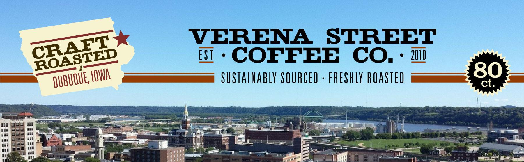 verena street single cup pods 80 count flavored coffee