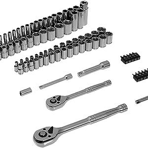 AmazonBasics - Juego de llaves (85 unidades): Amazon.es: Bricolaje y herramientas