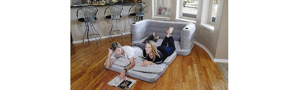 Bestway 75063 - Sofá Cama Hinchable Multi Max II Air Couch