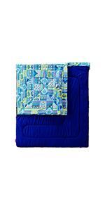 寝袋 ファミリー2in1 C5 使用可能温度5度 封筒型(Amazon.co.jp 限定ネイビー)