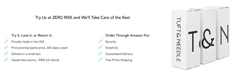 d688c72e40b Amazon.com  Tuft   Needle Queen Mattress
