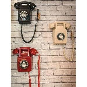 Protelx Rotary BLK - Teléfono Fijo analógico, Negro (Importado ...