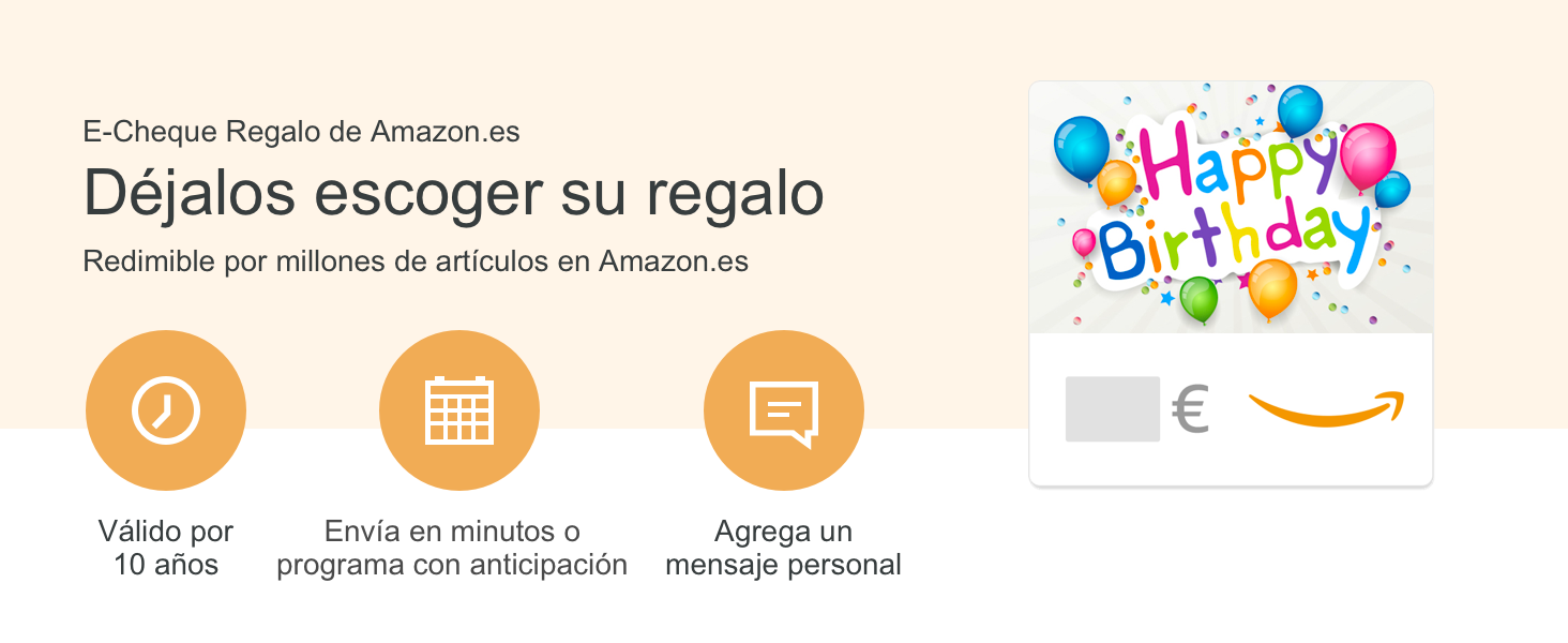 Cheque Regalo de Amazon.es - E-Cheque Regalo - Felicidades ...