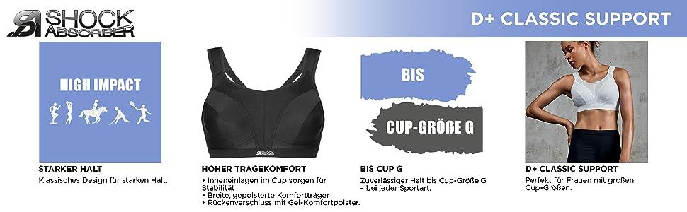367574b46e Women Shock Absorber Damen Sport-BH-D Max  Amazon.de  Sport   Freizeit