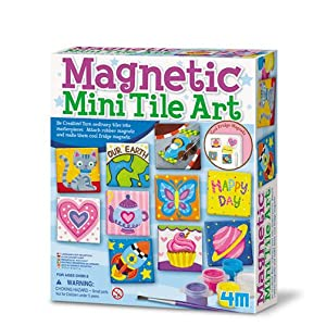 4m 4341 Magnetic Tile Art Amazon Co Uk Toys Games