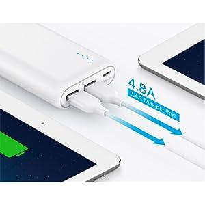 Anker 20100mAh PowerCore Portable Power Bank - White, A1271H21