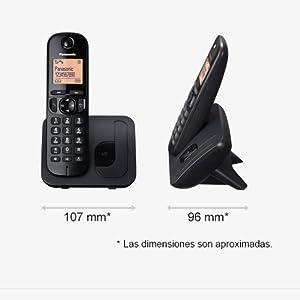 Panasonic KX-TGC210 - Teléfono fijo inalámbrico (LCD, identificador de llamadas, agenda de 50 números, tecla de navegación, modo ECO, reducción de ruido), Gris/Negro/Blanco, TGC21 Solo: Panasonic: Amazon.es: Electrónica