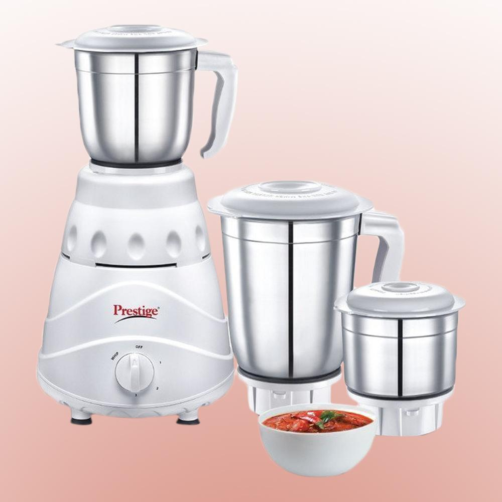 Buy Prestige Flair (550 Watt) Mixer Grinder with 3 Stainless Steel ...