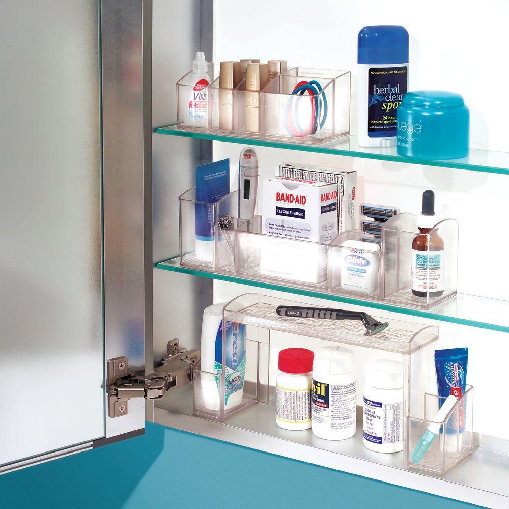 Interdesign med bathroom medicine cabinet organizer for electric toothbrush toothpaste - Keep toothpaste kitchen ...
