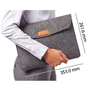 AmazonBasics Felt Laptop Sleeve, Grey