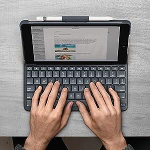 ロジクールワイヤレスキーボード logicool SLIM FOLIO iK1053 keyboard