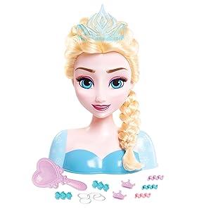 Disney Frozen Busto Peinable De Elsa Con Accesorios Imc Toys