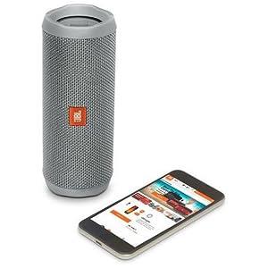 JBL Flip 4 Waterproof Portable Bluetooth speaker - Grey, JBLFLIP4GRYAM