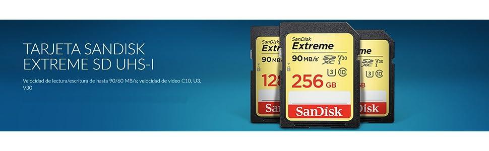 SanDisk Extreme - Tarjeta de Memoria SDXC (64 GB, Velocidad hasta 90 MB/s, Class 10 y U3 y V30)