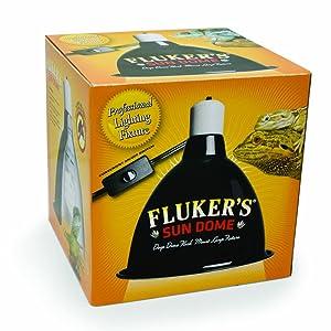 Amazon.com: Lámpara para reptil Flukers domo solar ...