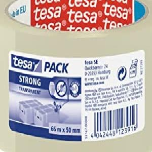 2x Tesa ® Packaging Tape packing Tape Tape Eco /& strong 66m x 50mm Clear