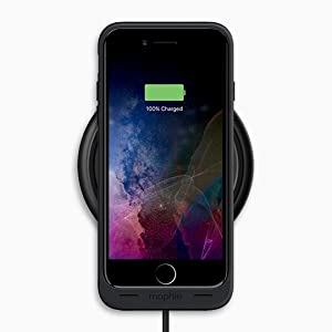 100% authentic bc6d0 5197e mophie - Wireless Charge Pad - Apple Optimized - 7.5W Qi Wireless  Technology for iPhone Xr, Xs Max, X / Xs, 8 and 8 Plus - Black