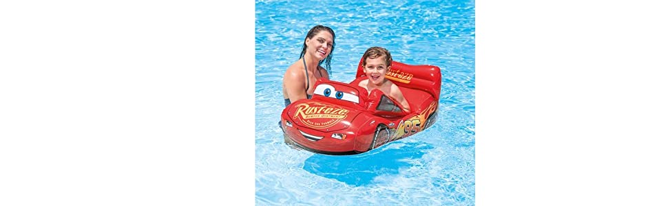 Intex 58392NP - Barco infantil hinchable Pool Cruiser licencia Cars 71 x 109 cm