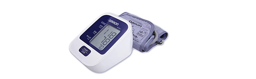 OMRON M2 BASIC Tensiómetro de Brazo digital, Blanco y Azul: Amazon ...