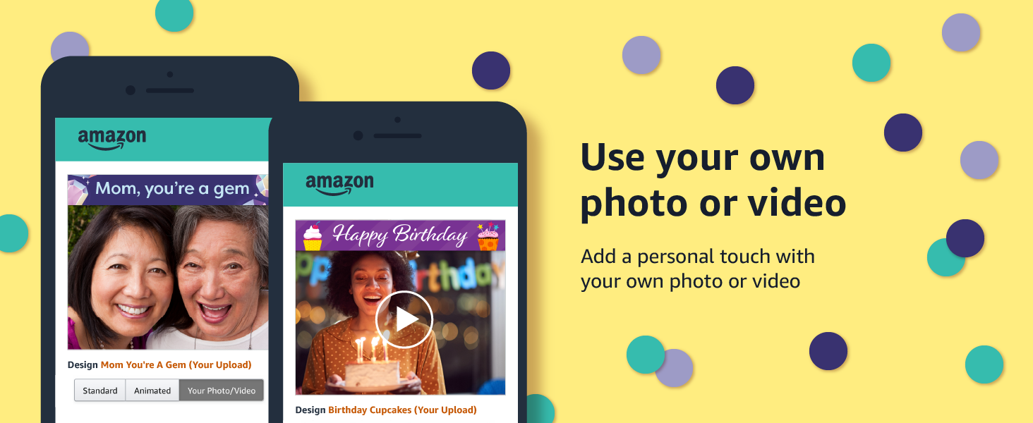 Upload your own photo or video