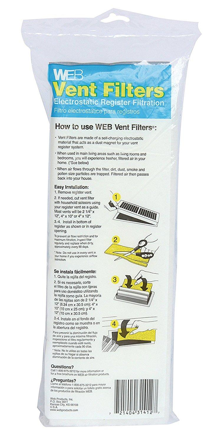 Vent Register Filters Heating Vents Amazon Com