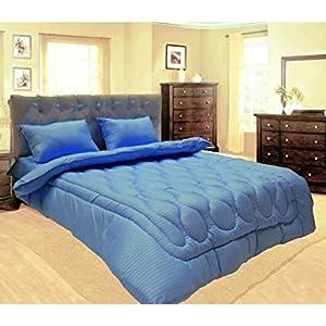 Hotel 6Pcs Stripe Comforter Set