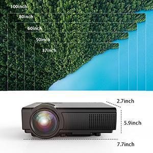 TENKER Q5 LED Mini Movie Projector Support 1080PBlack - HK Shared Dream