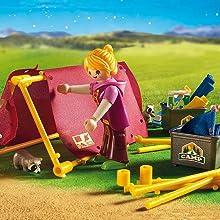 Playmobil Campamento de Verano-6888 Playset, Multicolor